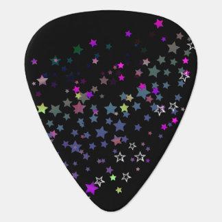 Sternshine-Party-Sterne, schwarz Plektrum