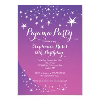 Sternsleepover-Party-Geburtstags-Party Einladungen