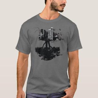 Sterntinten-Baum-Stadt-Shirt T-Shirt