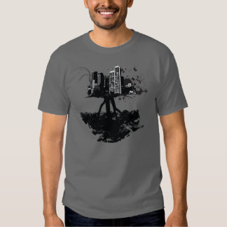 Sterntinten-Baum-Stadt-Shirt T-Shirts