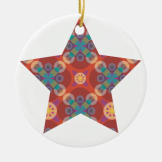 Sternverzierung Keramik Ornament