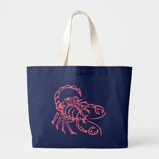 Sternzeichen Skorpion zodiac sign Scorpio Jumbo Stoffbeutel