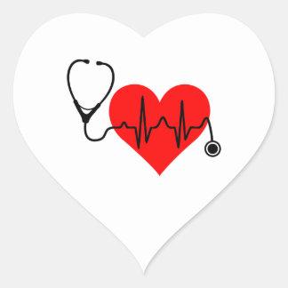 Stethoskop-Herzschlag-Herz Herz-Aufkleber