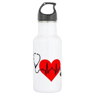 Stethoskop-Herzschlag-Herz Trinkflasche