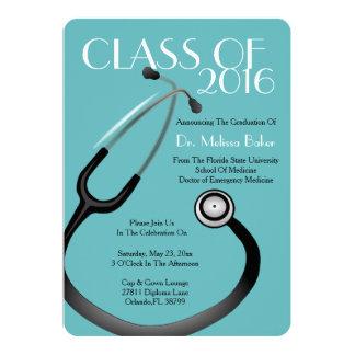 Stethoskop-medizinische SchulAbschluss-Mitteilung Karte