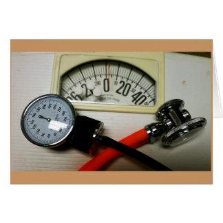 Stethoskop und Sphygmomanometer Karte