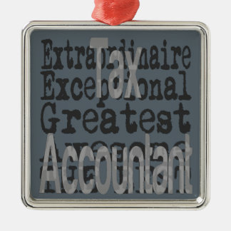 Steuer-Buchhalter Extraordinaire Quadratisches Silberfarbenes Ornament