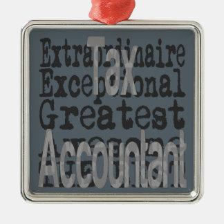 Steuer-Buchhalter Extraordinaire Silbernes Ornament