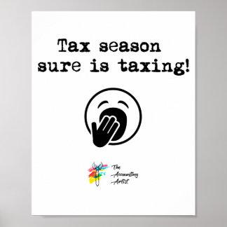 Steuer-Jahreszeit-Plakat-Kunst Poster