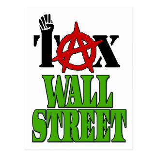 Steuer Wall Street -- Occupy Wall Street 99% Postkarte