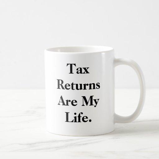 Steuererklärungen sind mein Leben…. - Doppelseitig Kaffee Haferl