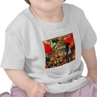 Steuerliche Klippen-politische Apokalypse T-shirt