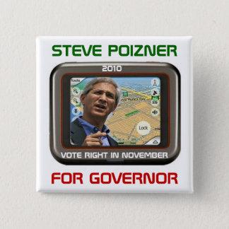Steve 2010 Poizner für Gouverneurquadratknopf Quadratischer Button 5,1 Cm