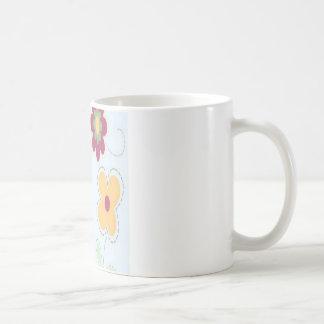 Stich-Blumenentwurf Kaffeetasse