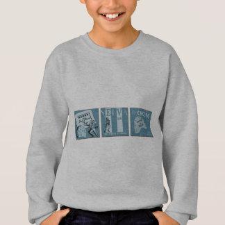 Sticht Zeiten drei an Sweatshirt