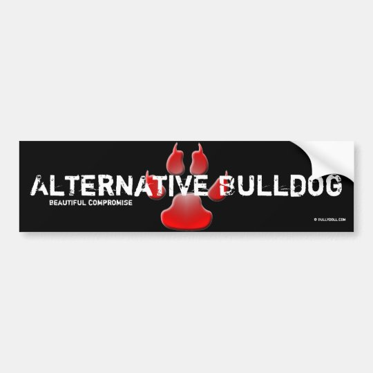 Sticker Alternative Bulldog Autoaufkleber