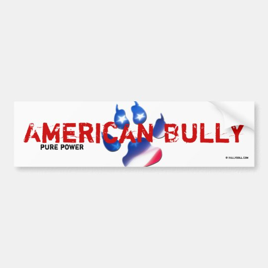 Sticker American Bully Autoaufkleber