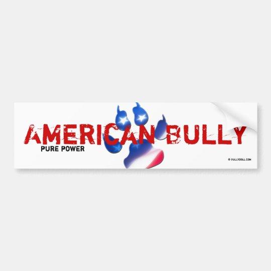 Sticker American Bully Autoaufkleber