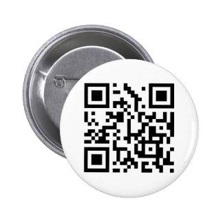 sticker anstecker qr code qr-code runder button 5,7 cm