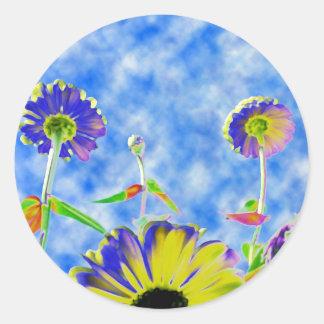 "Sticker ""crasy flowers"""