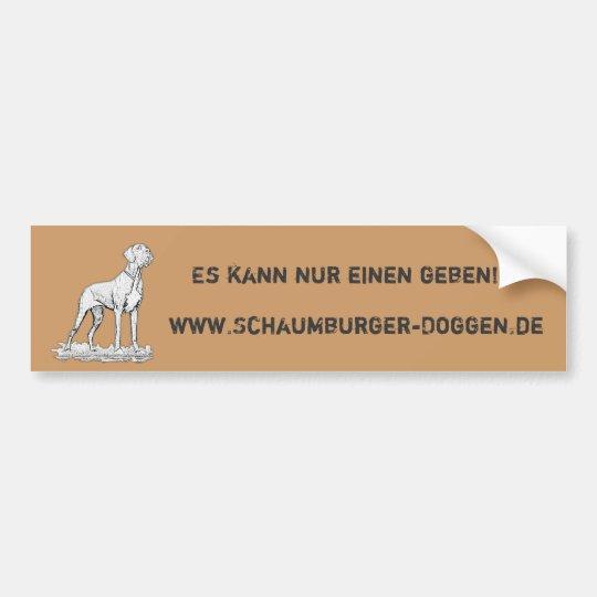 Sticker Deutsche-Doggen Autoaufkleber