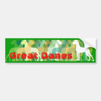 Sticker Great Danes Autoaufkleber