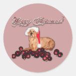 """Sticker Happy Christmas """"Irish Terrier"""""""
