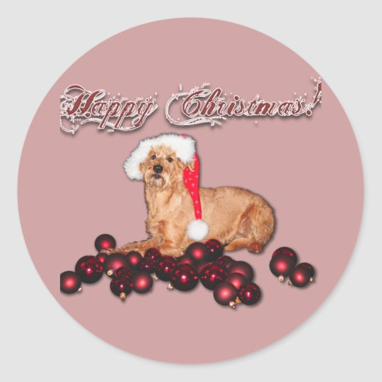 "Sticker Happy Christmas ""Irish Terrier"""