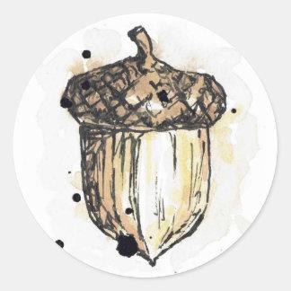 Sticker mit einer Eichel
