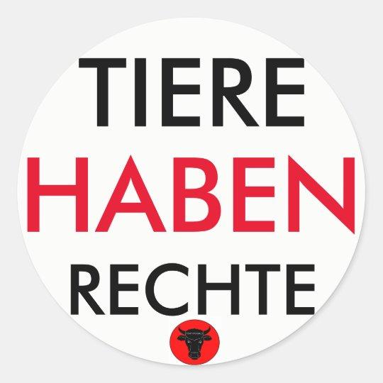 """Sticker """"TIERE HABEN RECHTE"""""""