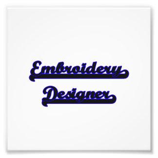 Stickerei-Designer-klassischer Job-Entwurf Fotografischer Druck