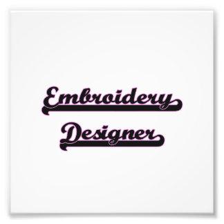Stickerei-Designer-klassischer Job-Entwurf Photographischer Druck