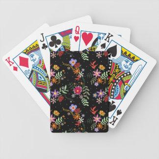 Stickerei Folk Bicycle Spielkarten