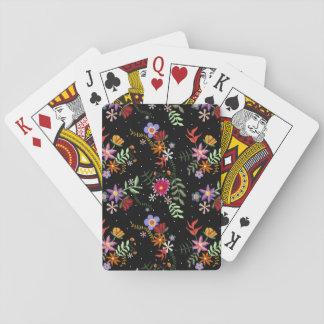 Stickerei Folk Spielkarten