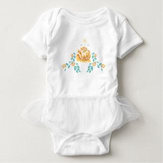 Stickerei-gelbe Rosen-Verzierung Baby Strampler