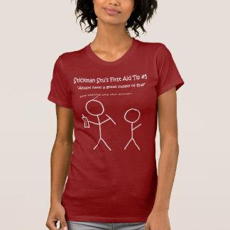 Stickman Stu-Spitzen T-Shirt