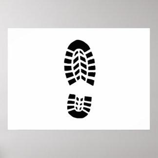 Stiefel-Fuß-Druck Poster