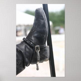 Stiefel mit Sporn Posterdrucke