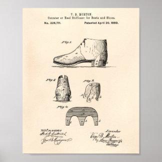 Stiefel und Patent-Kunst altes Peper der Poster