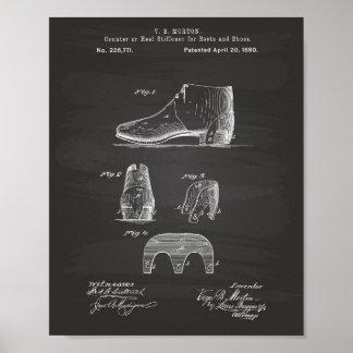 Stiefel und Patent-Kunst-Tafel der Schuh-1880 Poster