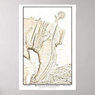 Stiefel und Sporn Posterdrucke