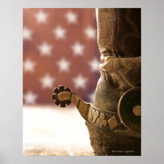 Stiefel und Sporn Poster