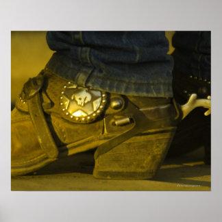 Stiefel und Sporne Plakatdruck