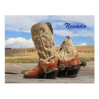 Stiefel von Nevada Postkarte