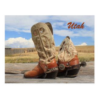 Stiefel von Utah Postkarte