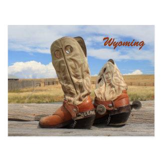 Stiefel von Wyoming Postkarte