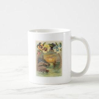 Stiefmütterchen Kaffeetasse