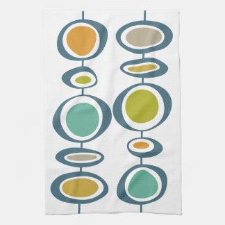 Stiel-geometrische Mitte- des Jahrhundertsmodernes Handtuch