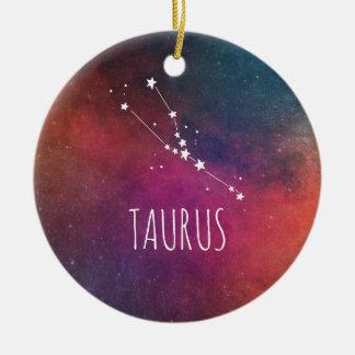 Stier-Astrologie Rundes Keramik Ornament