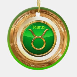 Stier - das Stier-Horoskop-Zeichen Rundes Keramik Ornament